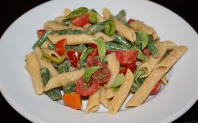 Summer Pasta Salad (gluten free, vegan, easy!)